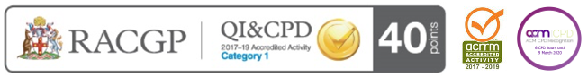 RACGP - QI and CPD - ACM CPD regognition - 40 points