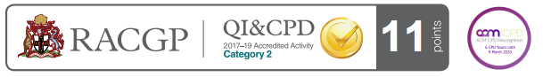 RACGP - QI and CPD - ACM CPD regognition - 11 points